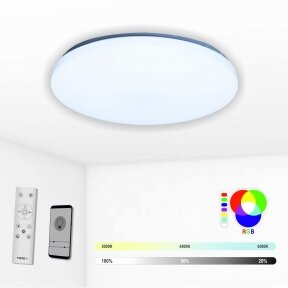 """Round ceiling LED luminaire with RGB function """"SOFIA"""" 2x24W"""