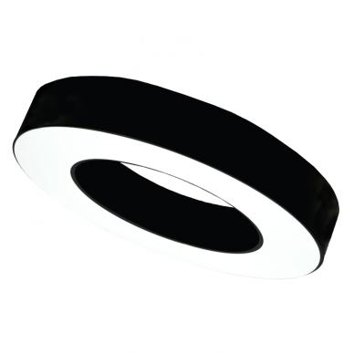 """Apvalus lubinis juodas LED šviestuvas """"MEKA"""" 30W 4"""