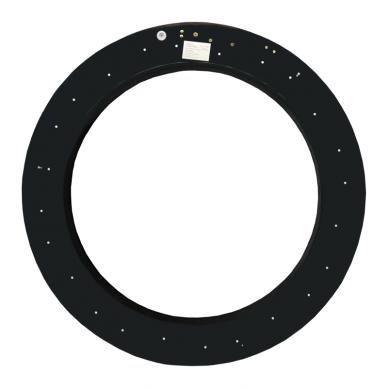 """Apvalus lubinis juodas LED šviestuvas """"MEKA"""" 48W 8"""