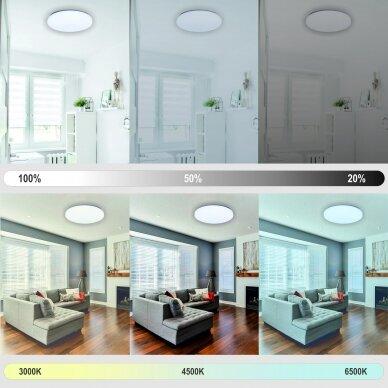 "Apvalus lubinis LED šviestuvas ""SOPOT"" 2x18W 4"