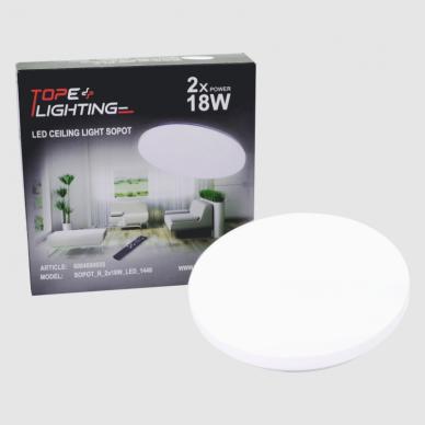 "Apvalus lubinis LED šviestuvas ""SOPOT"" 2x18W 14"
