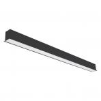 "Reccesed linear LED black luminaire ""ESNA"" 72W"