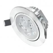 """Įmontuojamas apvalus metalinis LED šviestuvas """"LENS"""" 5W"""