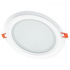 """Įmontuojamas apvalus LED šviestuvas su stiklu """"MODOLED"""" 18W"""
