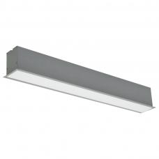"""Įmontuojamas pailgas pilkas LED šviestuvas """"ESNA"""" 20W"""
