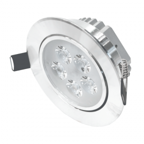 """Reccesed round metal LED downlight """"LENS"""" 5W"""