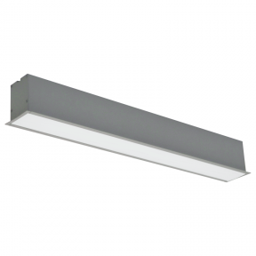 "Reccesed linear LED grey luminaire ""ESNA"" 20W"