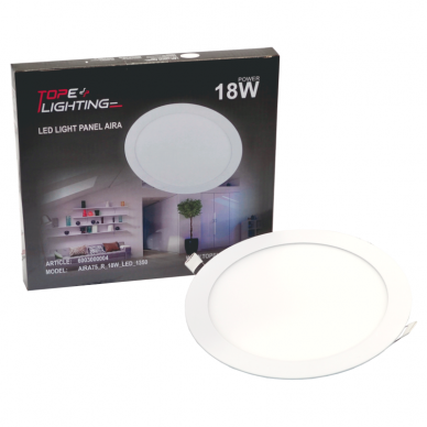 """Įmontuojama apvali LED panelė """"AIRA"""" 18W"""