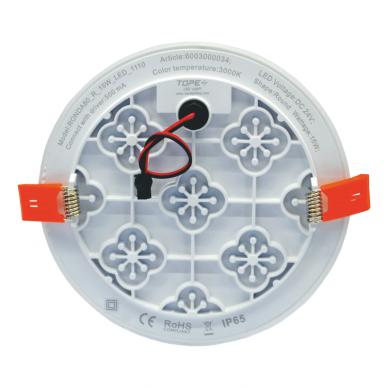 """Įmontuojama apvali LED panelė """"RONDA"""" 15W 4"""