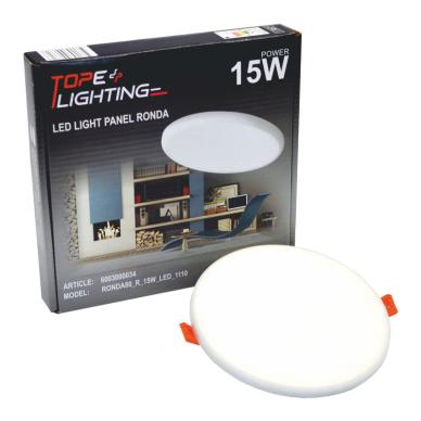 """Įmontuojama apvali LED panelė """"RONDA"""" 15W 6"""