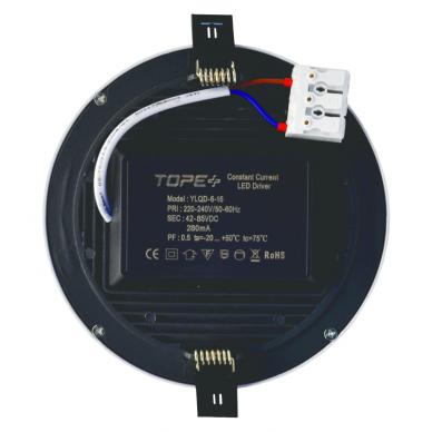 """Įmontuojama apvali LED panelė """"SPLIT"""" 16W 5"""