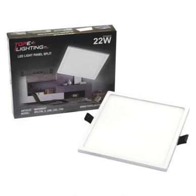 """Įmontuojama kvadratinė LED panelė """"SPLIT"""" 22W 7"""