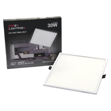 """Įmontuojama kvadratinė LED panelė """"SPLIT"""" 30W 7"""