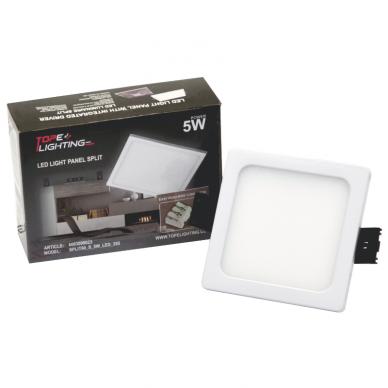 """Įmontuojama kvadratinė LED panelė """"SPLIT"""" 5W 7"""