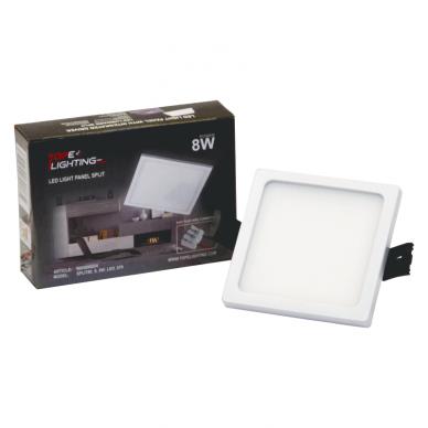"""Įmontuojama kvadratinė LED panelė """"SPLIT"""" 8W 7"""