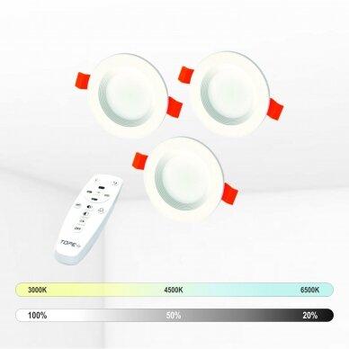 """Įmontuojamas apvalus LED šviestuvas """"BERN"""" 3x4W"""