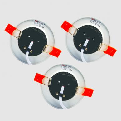 """Įmontuojamas apvalus LED šviestuvas """"BERN"""" 3x4W 4"""