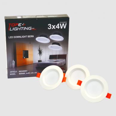 """Įmontuojamas apvalus LED šviestuvas """"BERN"""" 3x4W 6"""