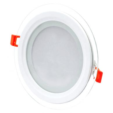 """Įmontuojamas apvalus LED šviestuvas su stiklu """"MODOLED"""" 12W 4"""