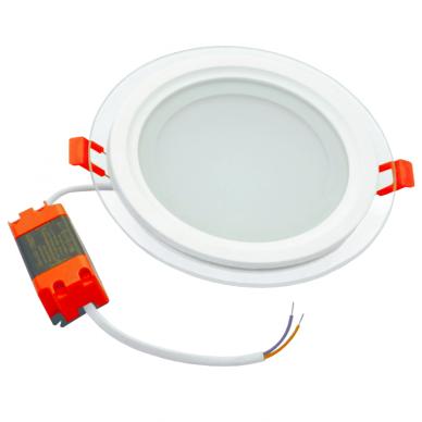 """Įmontuojamas apvalus LED šviestuvas su stiklu """"MODOLED"""" 12W 6"""