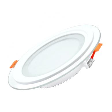 """Įmontuojamas apvalus LED šviestuvas su stiklu """"MODOLED"""" 12W 3"""