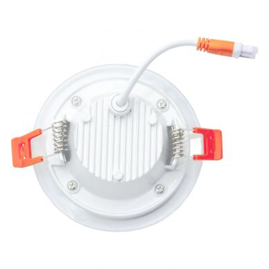 """Įmontuojamas apvalus LED šviestuvas su stiklu """"VESTA"""" 6W 4"""