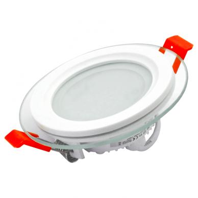 """Įmontuojamas apvalus LED šviestuvas su stiklu """"VESTA"""" 6W"""