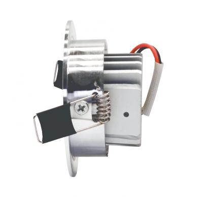 """Įmontuojamas apvalus metalinis LED šviestuvas """"LENS"""" 3W 4"""