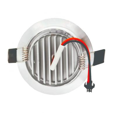 """Įmontuojamas apvalus metalinis LED šviestuvas """"LENS"""" 3W 5"""