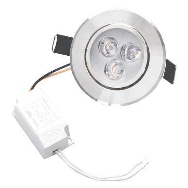 """Reccesed round metal LED downlight """"LENS"""" 3W"""