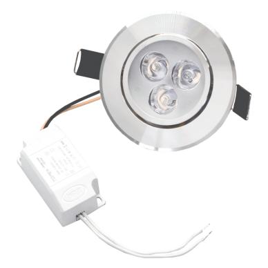 """Įmontuojamas apvalus metalinis LED šviestuvas """"LENS"""" 3W"""