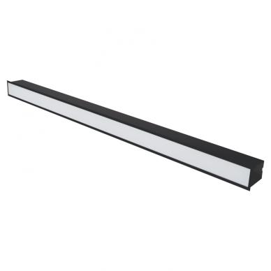 "Reccesed linear LED black luminaire ""ESNA"" 54W 2"