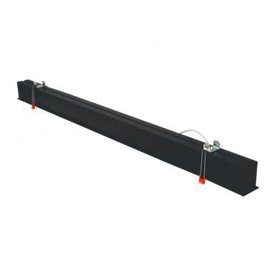 "Reccesed linear LED black luminaire ""ESNA"" 54W 7"