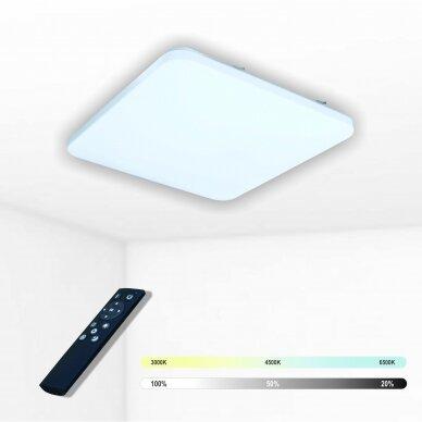 """Kvadratinis lubinis LED šviestuvas """"SOPOT"""" 2x24W"""