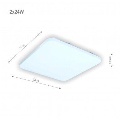 """Kvadratinis lubinis LED šviestuvas """"SOPOT"""" 2x24W 2"""