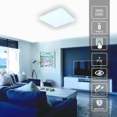 """Kvadratinis lubinis LED šviestuvas """"SOPOT"""" 2x24W 3"""