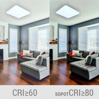 """Kvadratinis lubinis LED šviestuvas """"SOPOT"""" 2x24W 5"""
