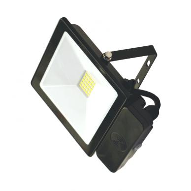 "LED floodlight with microwave sensor ""TOLEDOSENS"" 20W"
