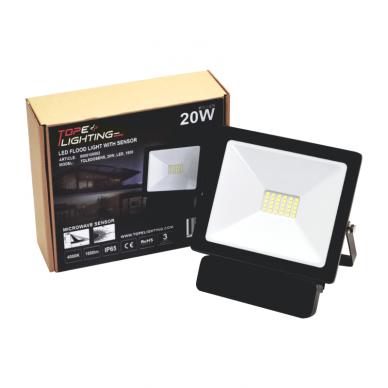 "LED floodlight with microwave sensor ""TOLEDOSENS"" 20W 7"