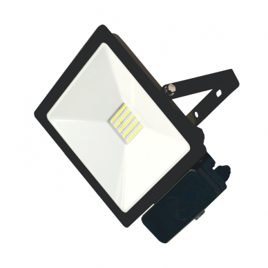 "LED floodlight with microwave sensor ""TOLEDOSENS"" 30W"