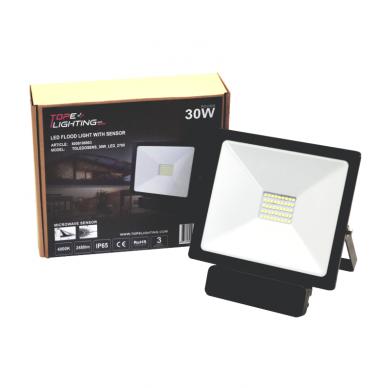 "LED floodlight with microwave sensor ""TOLEDOSENS"" 30W 7"