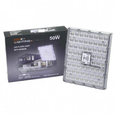 "LED floodlight with microwave sensor ""BRENTSENS"" 50W 7"