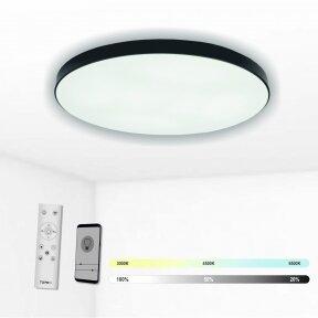"Black LED ceiling light ""BOSTON"" 2x36W"