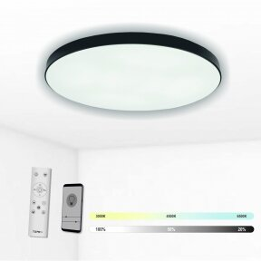 "Black LED ceiling light ""BOSTON"" 2x48W"