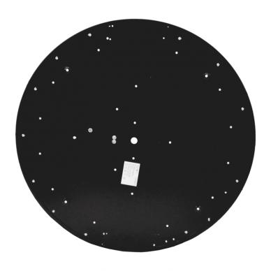 """Lubinis apvalus juodas LED šviestuvas """"MORA"""" 60W 7"""