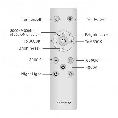 """Lubinis baltas LED šviestuvas """"BOSTON"""" 2x36W 13"""