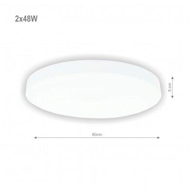 """Lubinis baltas LED šviestuvas """"BOSTON"""" 2x48W 2"""