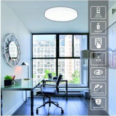 """Lubinis baltas LED šviestuvas """"BOSTON"""" 2x48W 3"""
