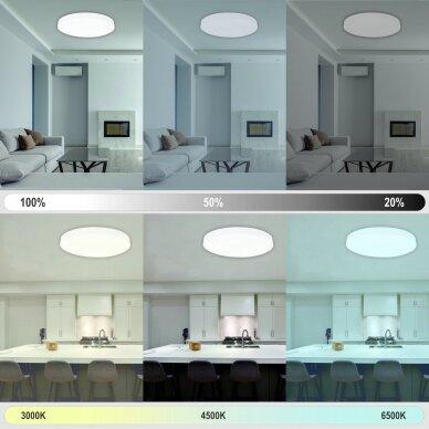 """Lubinis baltas LED šviestuvas """"BOSTON"""" 2x48W 4"""
