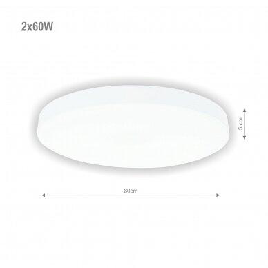 """Lubinis baltas LED šviestuvas """"BOSTON"""" 2x60W 2"""